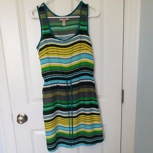 Banana Republic bright sleeveless summer dress